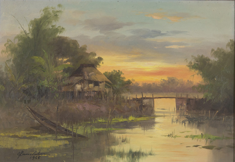 Village sunset